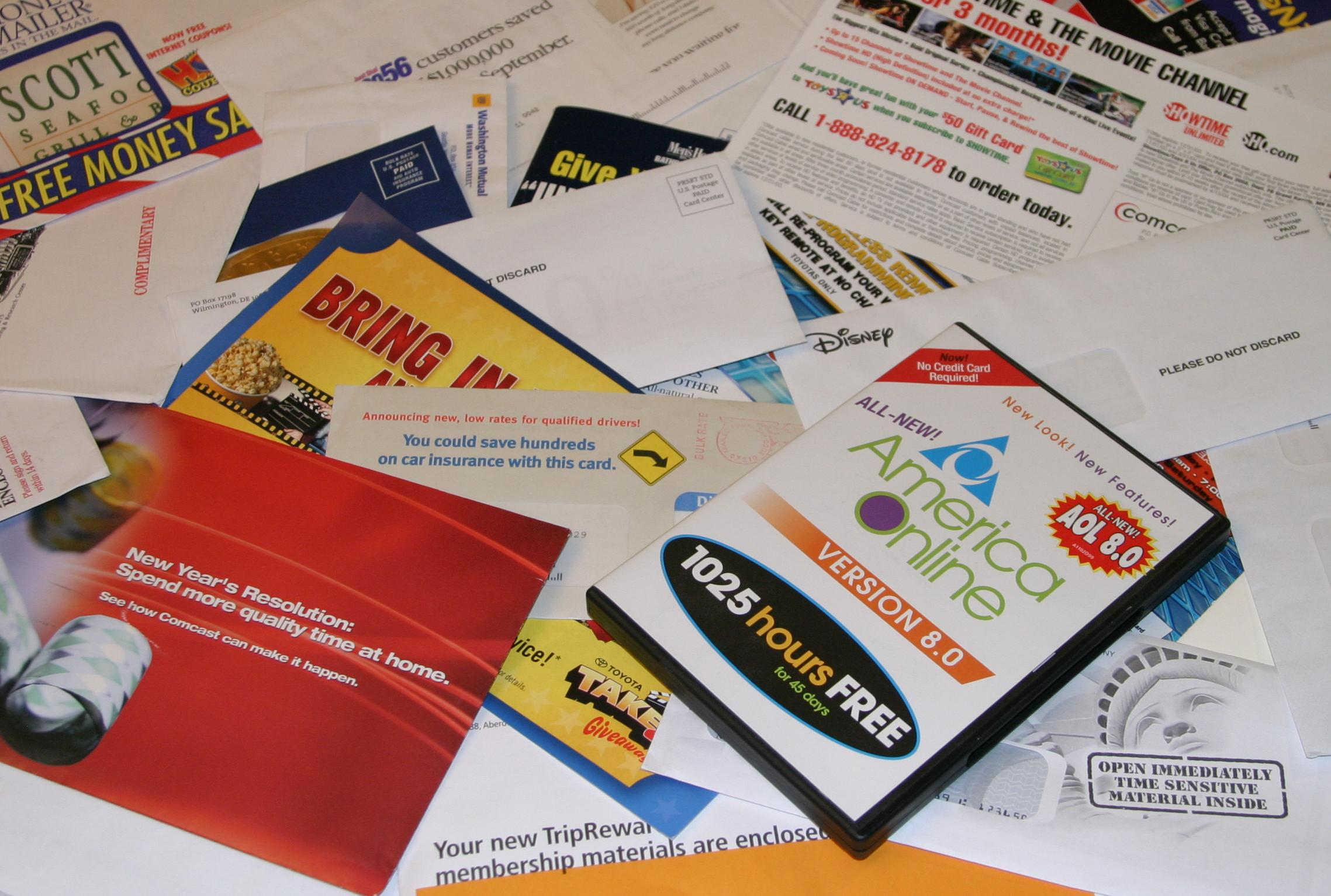 Junk mail collection